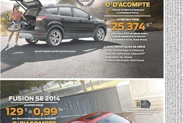 Promotion Ford | Échangez votre véhicule | Octobre 2014