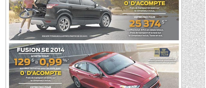 Promotion Ford du mois de novembre 2014