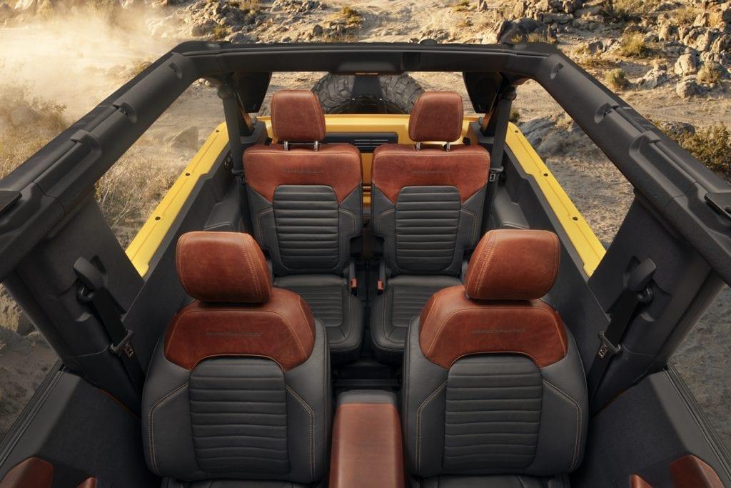 Ford Bronco 2021 - photo intérieur